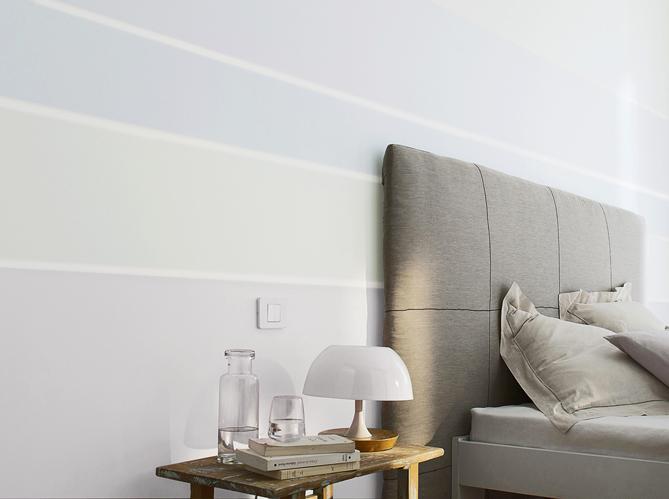 Tendance la peinture pastel s invite sur nos murs elle for Peinture graphique sur mur