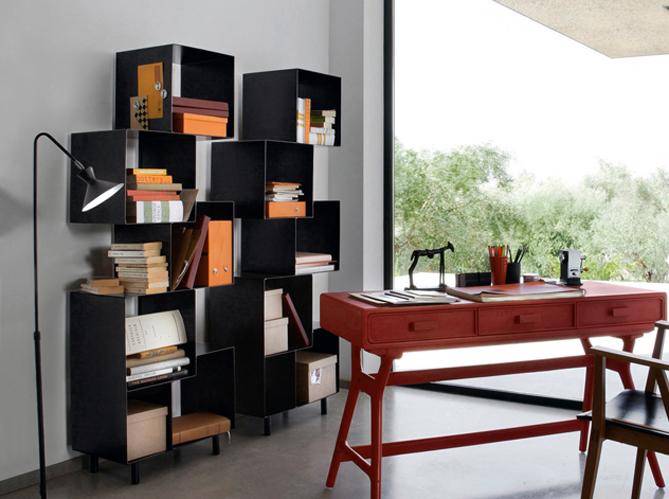 5 biblioth ques ultra pratiques elle d coration. Black Bedroom Furniture Sets. Home Design Ideas