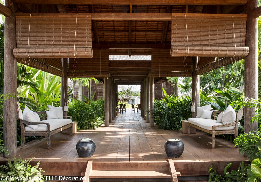 bois et bambou le duo gagnant un h tel au cambodge entre luxe et nature elle d coration. Black Bedroom Furniture Sets. Home Design Ideas