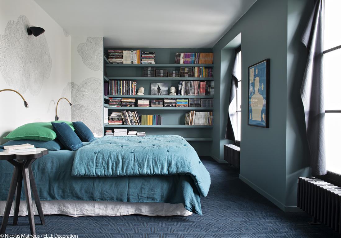 Bleu vert et noir le trio de choc de cette maison pas comme les autres elle d coration - Chambre noir et vert ...