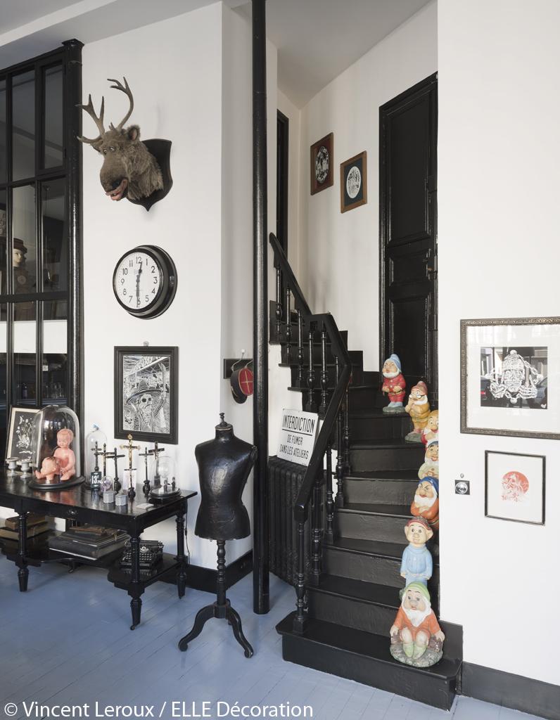 d co originale dans le loft parisien d 39 herv lopez le. Black Bedroom Furniture Sets. Home Design Ideas
