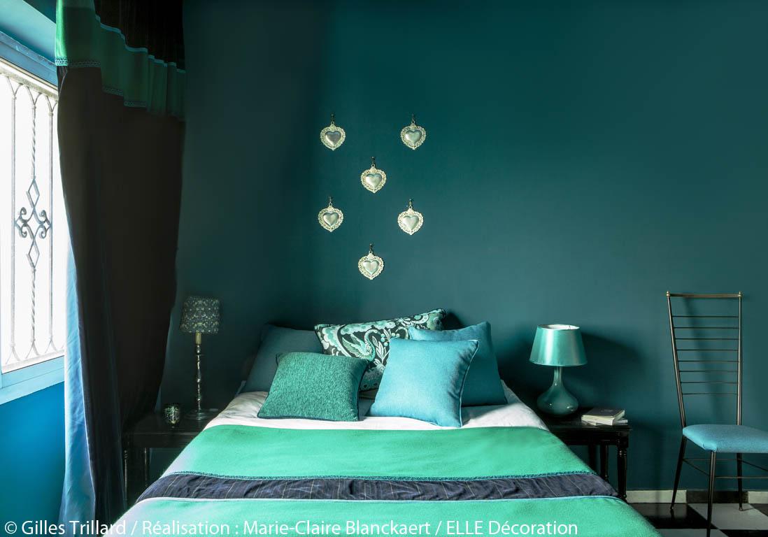 peindre murs en bleu et vert dans appartement sympa l. Black Bedroom Furniture Sets. Home Design Ideas