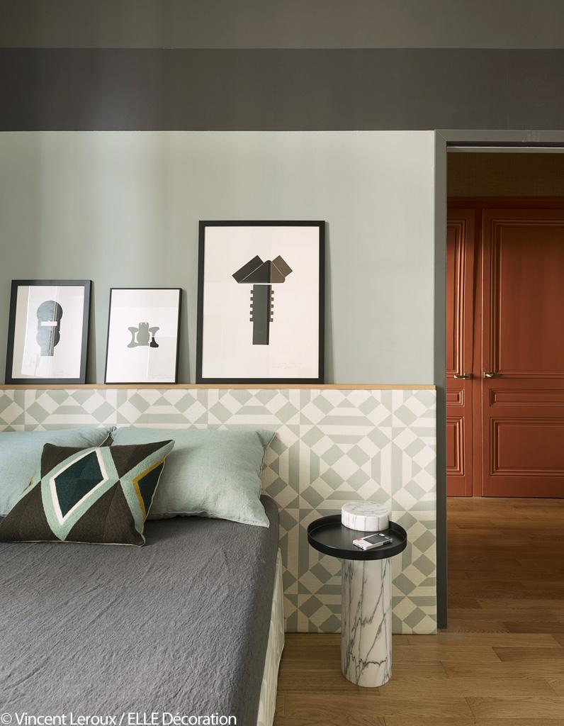 vert et terracotta l 39 alliance chic et choc de cet appart. Black Bedroom Furniture Sets. Home Design Ideas
