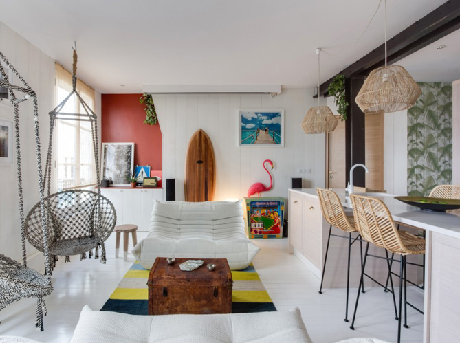 Visitez une cabane de surfeur en plein paris elle d coration - Deco salon appartement ...