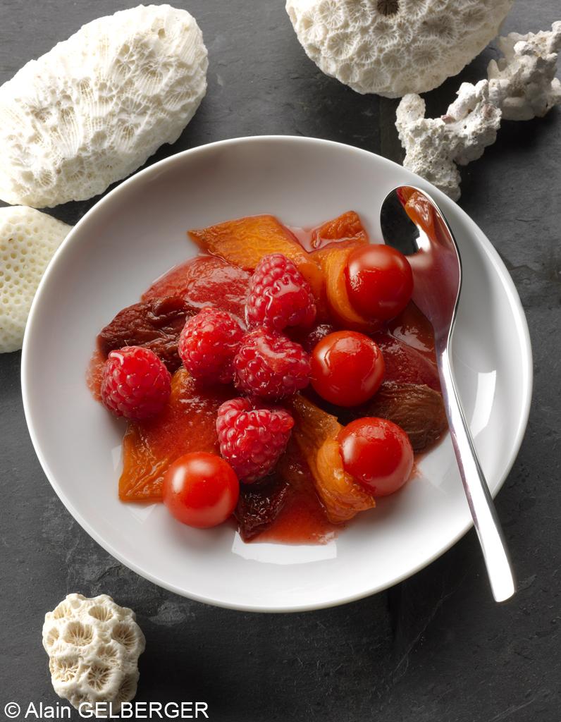 Tomates et framboises f ve tonka pour 4 personnes recettes elle table - Site de recettes cuisine ...