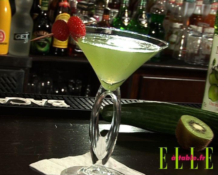 Vodka kiwi concombre elle table for Cocktail kiwi vodka
