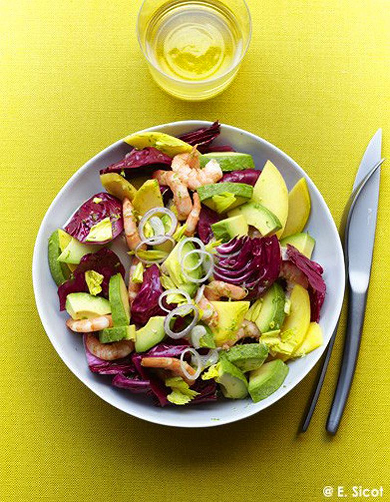 Salade avocat mangue tr vise et crevettes 50 id es de - Salade a couper qui repousse ...