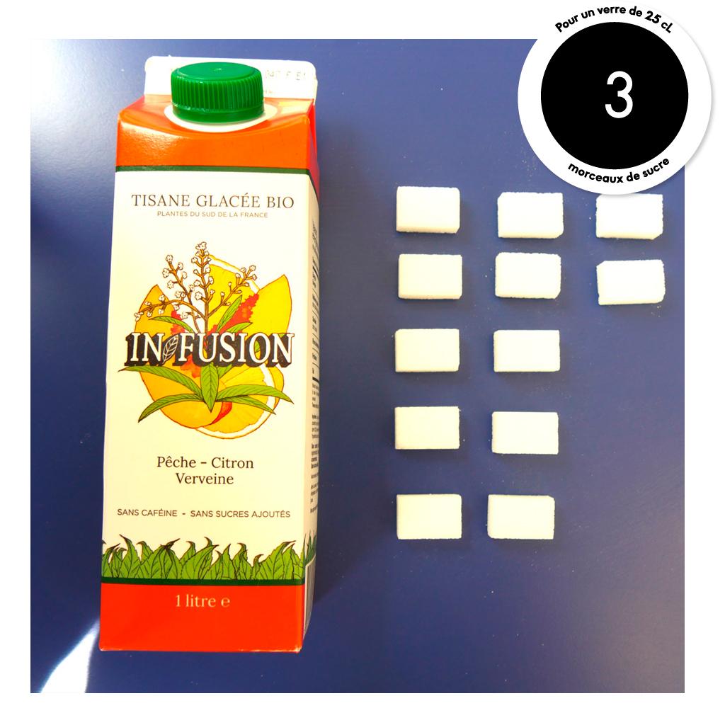 tisane glac e infusion p che citron verveine combien de morceaux de sucre dans nos boissons. Black Bedroom Furniture Sets. Home Design Ideas