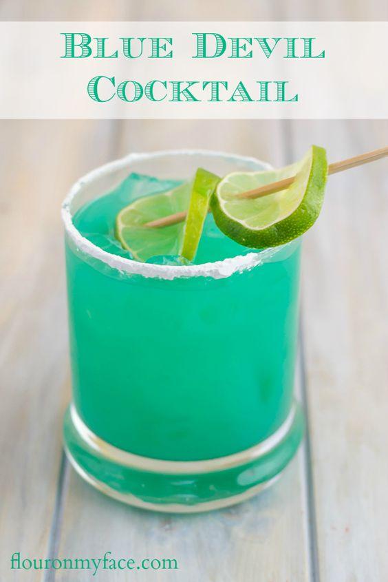 Cocktail Bleu Cura 231 Ao Des Cocktails Bleus Pour