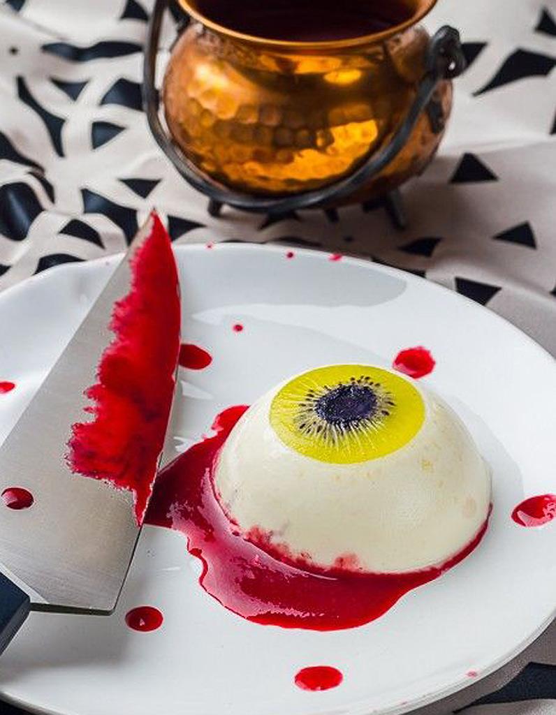 Il ensanglant pour halloween halloween des recettes effrayantes et faciles rep r es sur - Recette dessert halloween ...