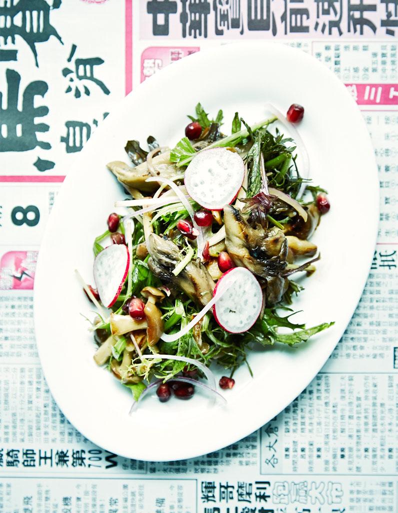 salade de champignons la grenade may chow le go t de hong kong elle table. Black Bedroom Furniture Sets. Home Design Ideas