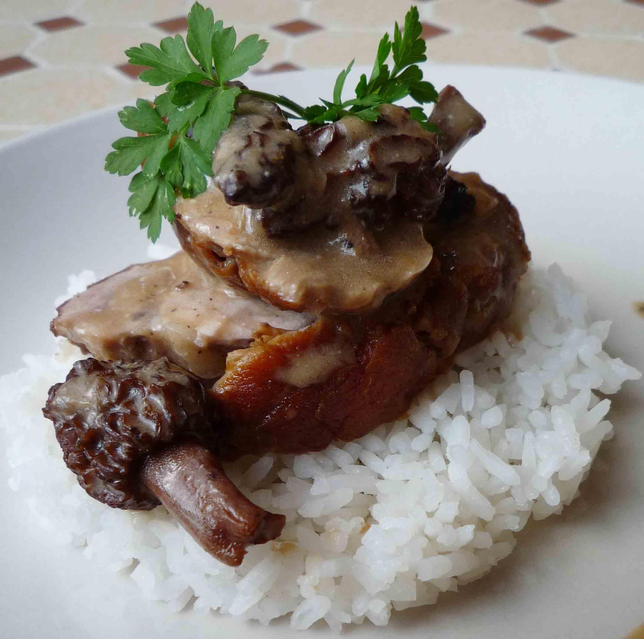 Filet mignon de porc aux morilles pour 4 personnes - Cuisine filet mignon de porc ...