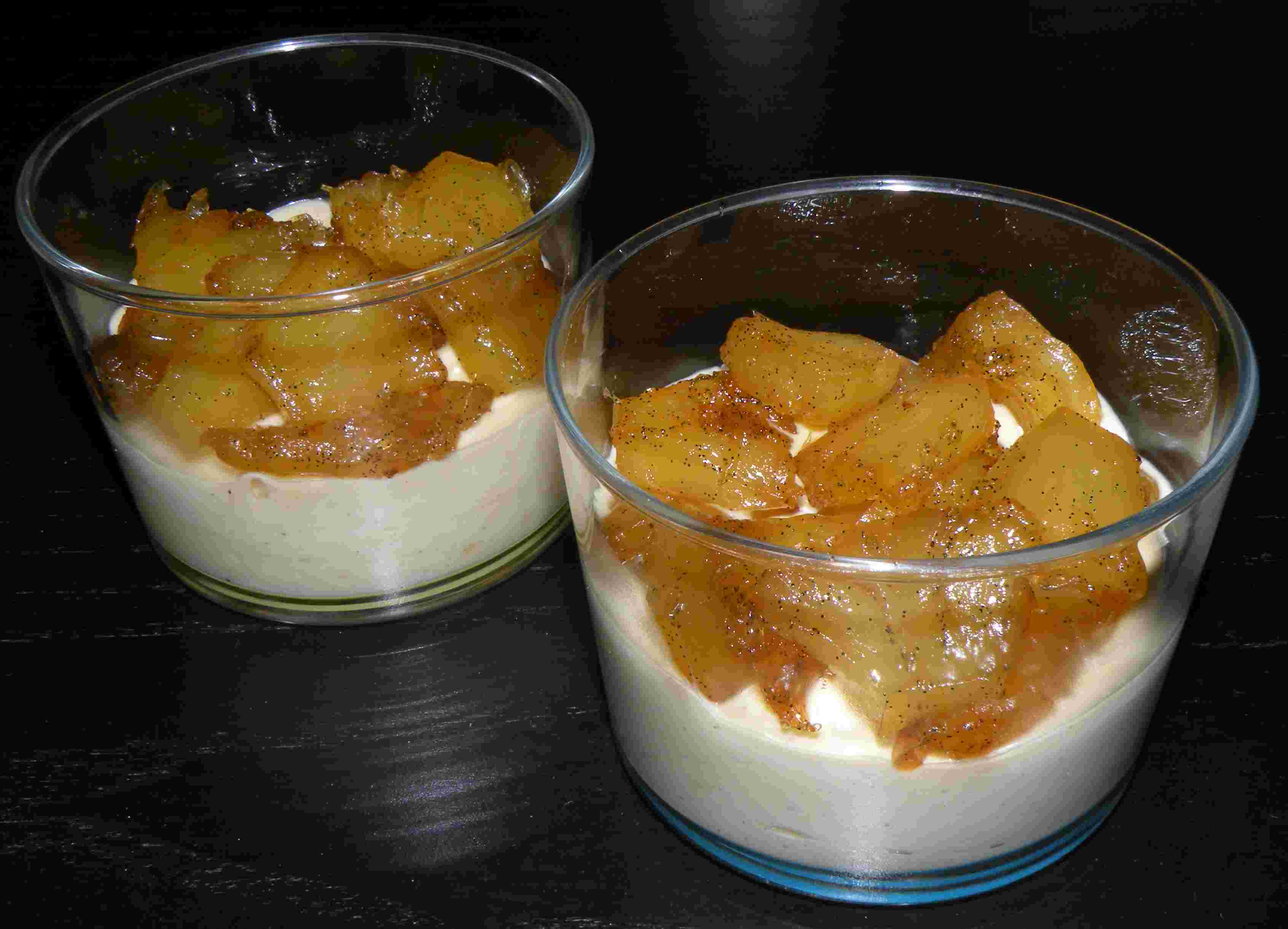 Verrines d ananas confit miel vanille et mascarpone pour 6 for What to do with mascarpone
