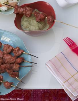 brochettes de poulet tandoori pur e d 39 aubergines cumin coriandre pour 4 personnes recettes. Black Bedroom Furniture Sets. Home Design Ideas