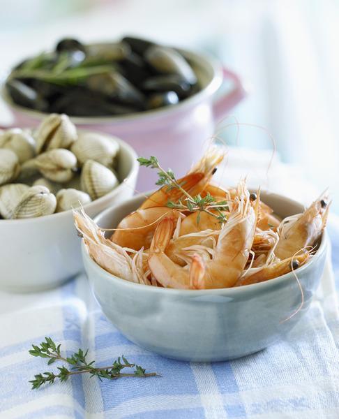 Crevettes de haute mer la mode chinoise recettes elle table - Cuisine a la mode ...