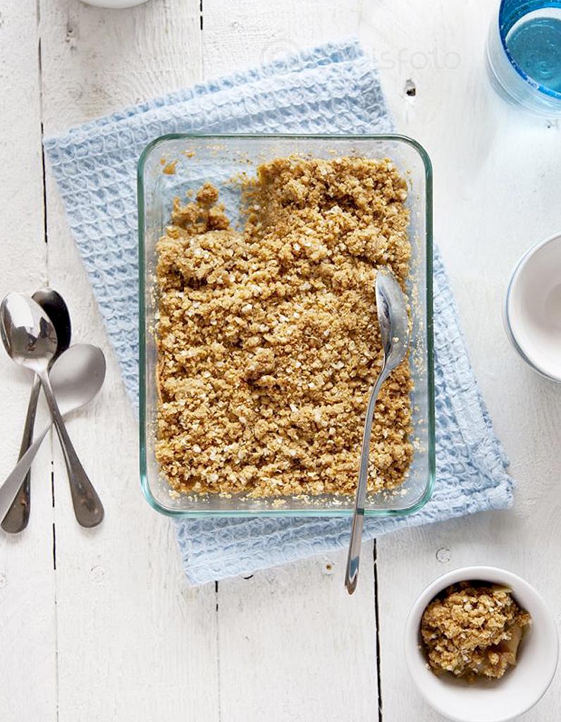 Crumble ananas mangue sans gluten pour 6 personnes recettes elle table - Recette de cuisine sans gluten ...