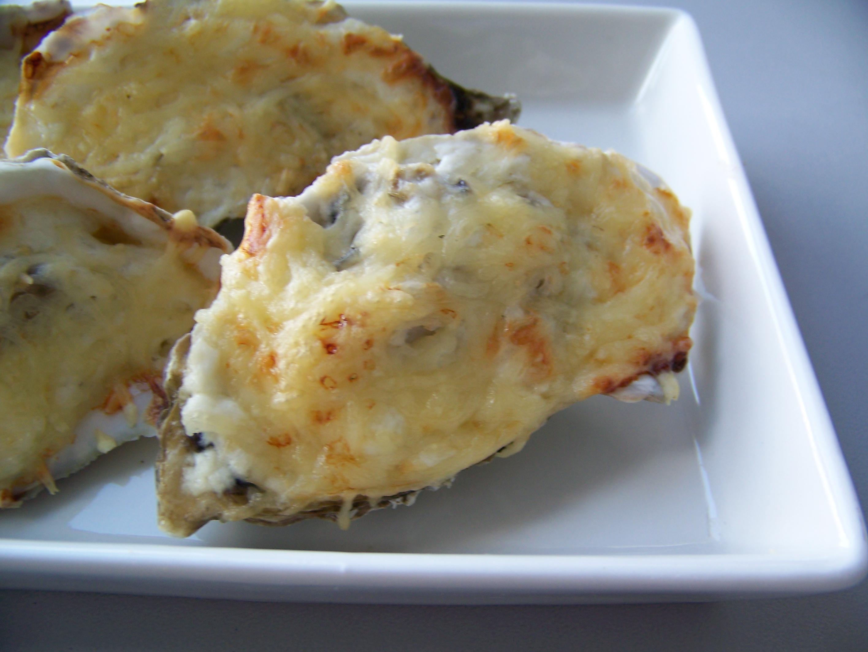 huîtres gratinées sur fondue de poireaux pour 2 personnes