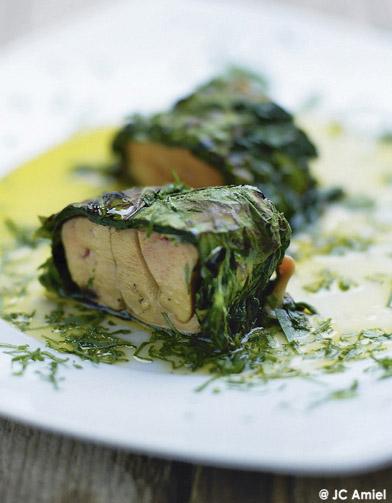 maki d pinards au foie gras frais pour 4 personnes recettes elle table. Black Bedroom Furniture Sets. Home Design Ideas