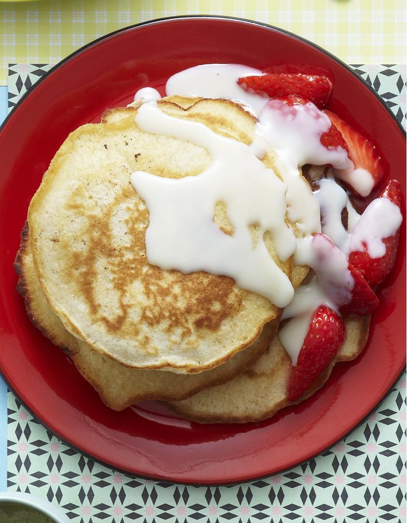 Pancakes au chocolat blanc pour 6 personnes recettes elle table - Recette pancakes herve cuisine ...