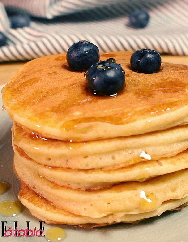 Pancakes healthy pour 2 personnes recettes elle table - Recette pancakes herve cuisine ...