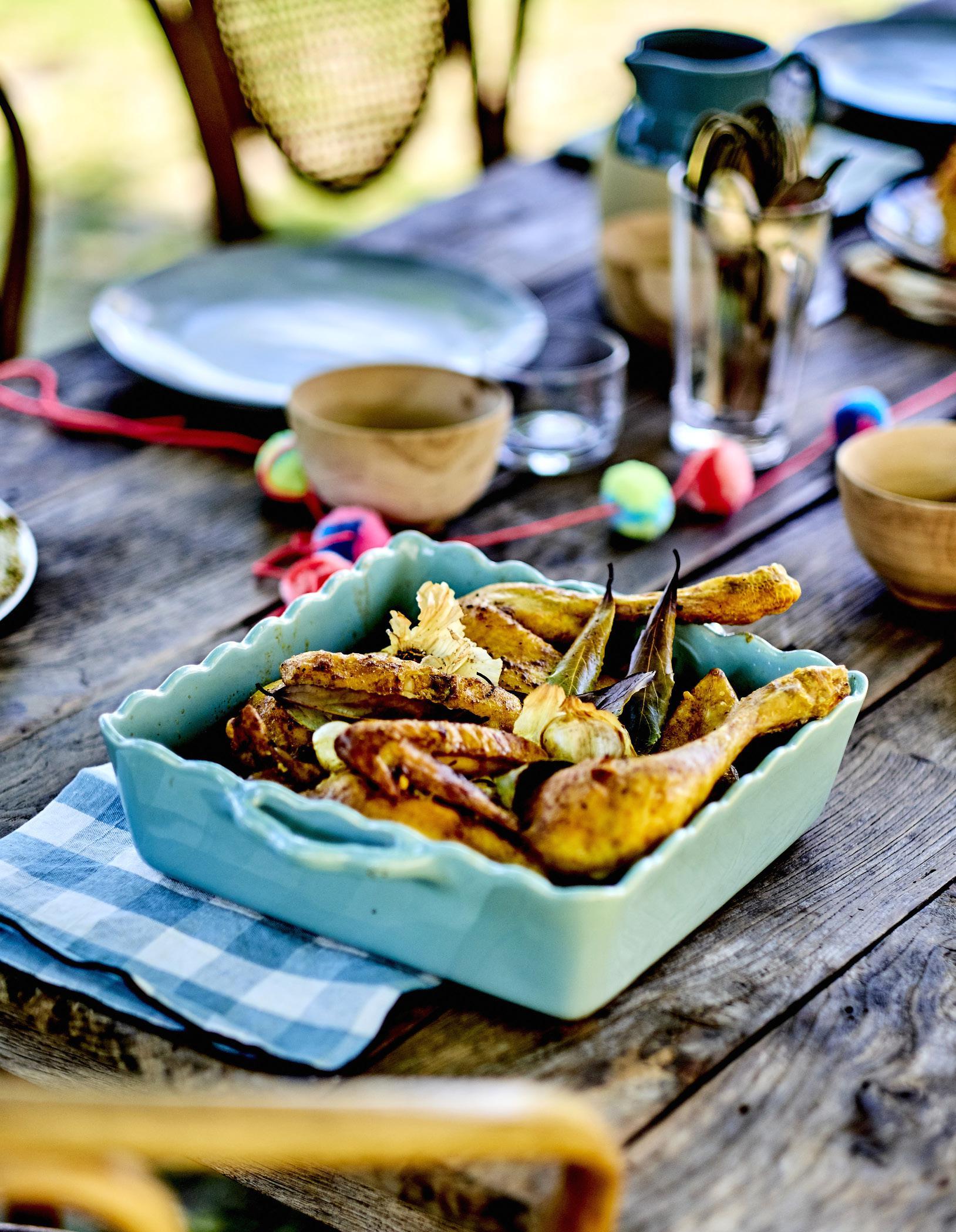 Poulet en crapaudine au curcuma pour 4 personnes recettes elle table - Site de recettes cuisine ...