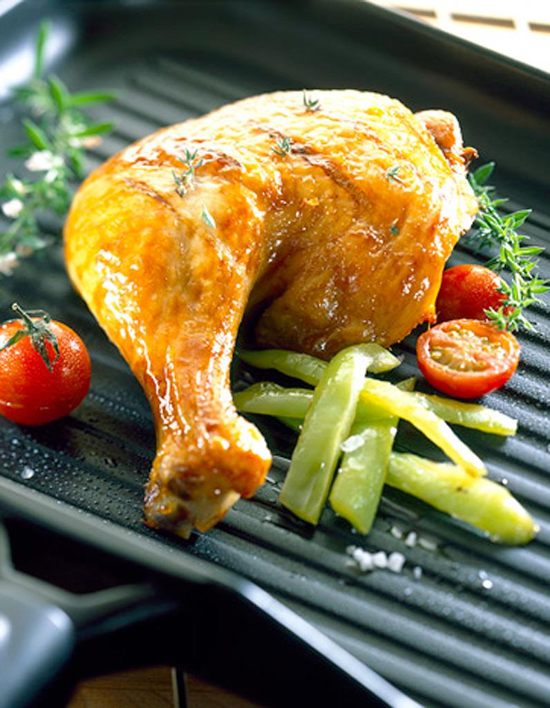 Poulet grill fum pour 1 personne recettes elle table - Cuisse de poulet grille au four ...