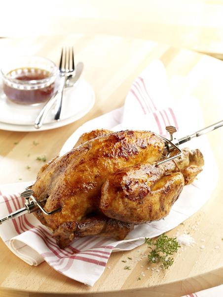 Poulet r ti l 39 estragon recettes elle table - Dessin de poulet roti ...