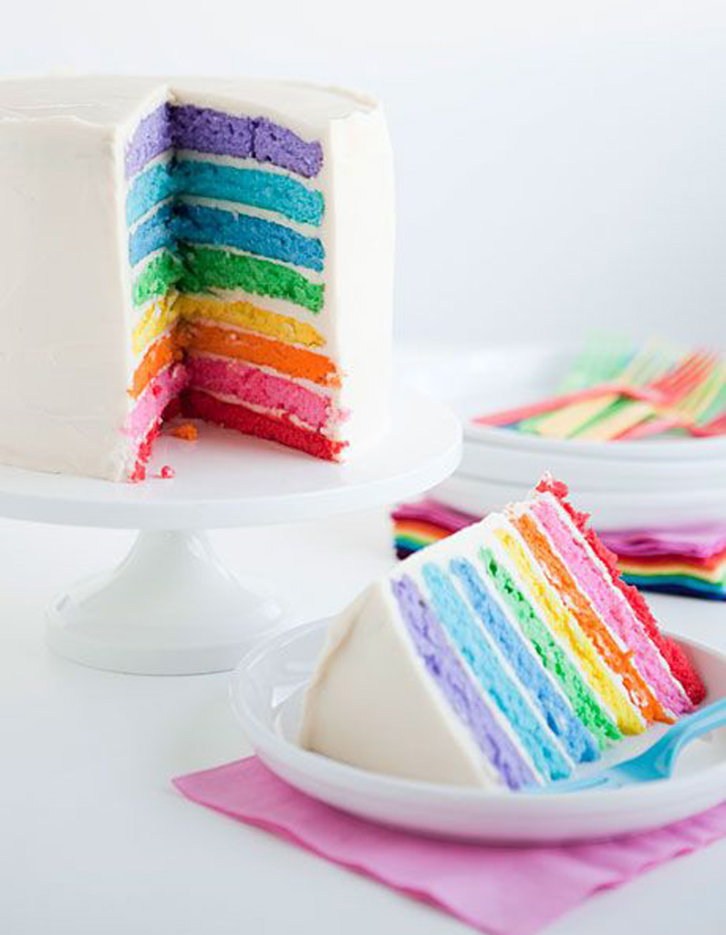 Rainbow Cake Avec  Oeufs