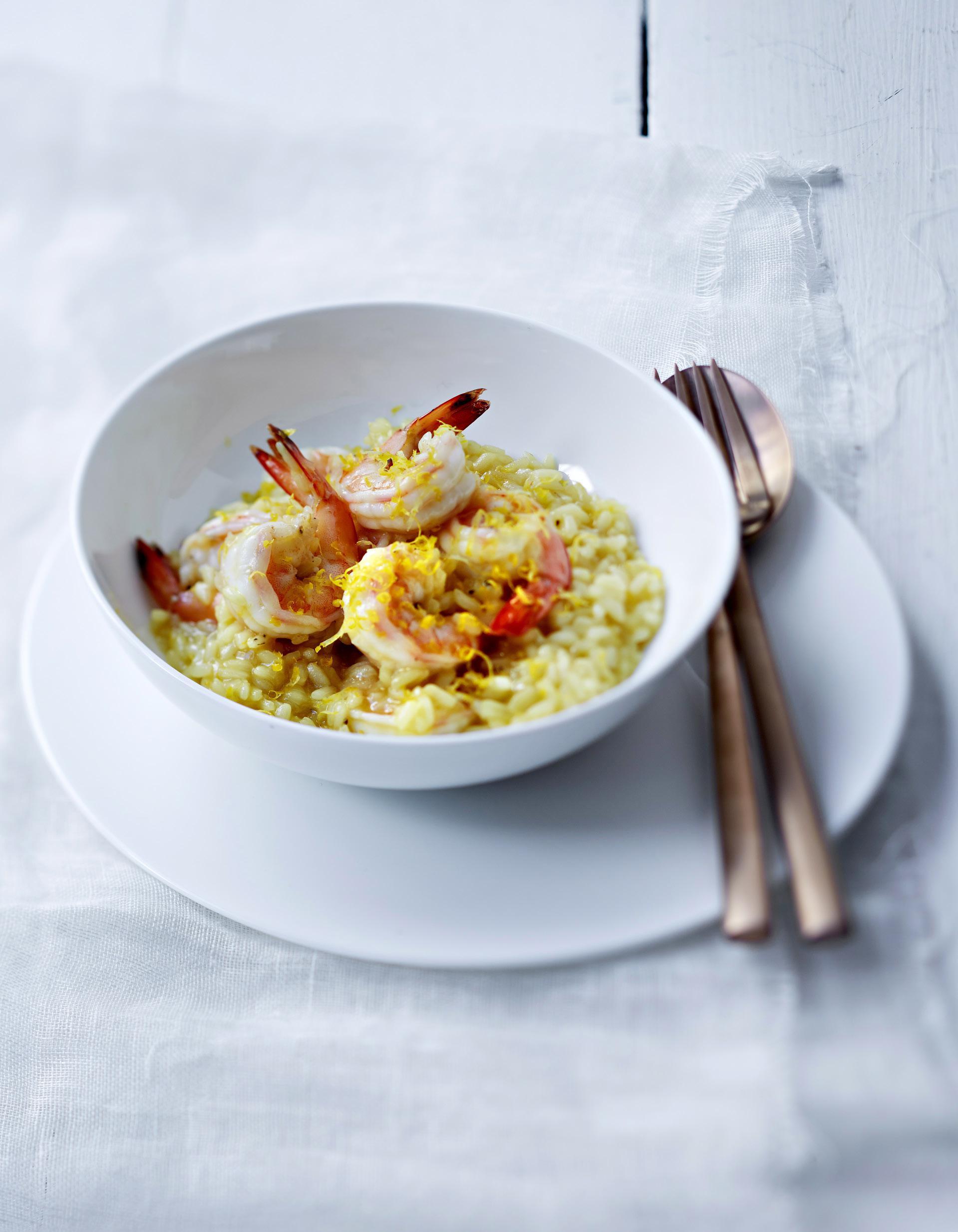 Risotto aux crevettes et citron pour 4 personnes recettes elle - Risotto noel ...