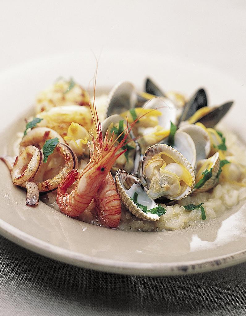 Risotto aux fruits de mer pour 4 personnes recettes elle table - Site de recettes cuisine ...