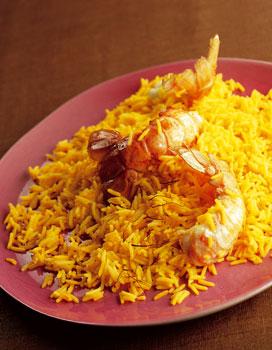 riz du peshawar safran et langoustines pour 4 personnes recettes elle table. Black Bedroom Furniture Sets. Home Design Ideas