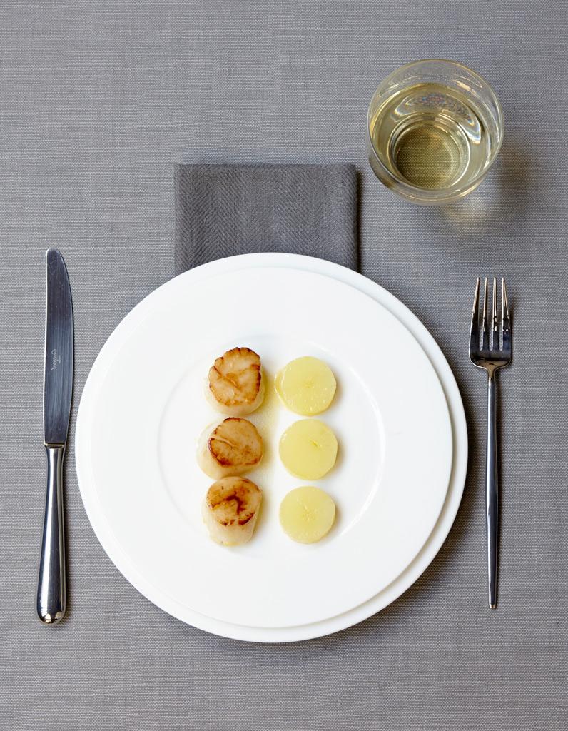 Saint jacques r ties palets de pommes de terre confites for Rangement pomme de terre cuisine