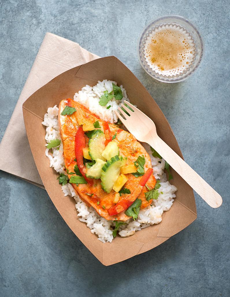 Saumon grill sauce piment e pour 4 personnes recettes elle table - Sauce pour crustaces grilles ...