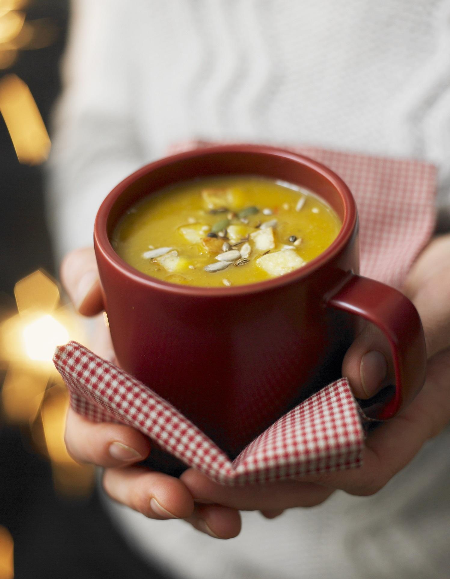 Soupe butternut pic e au citron pour 2 personnes recettes elle table - Soupe butternut thermomix ...