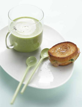 velout de petits pois et sandwichs la brioche pour 4 personnes recettes elle table. Black Bedroom Furniture Sets. Home Design Ideas