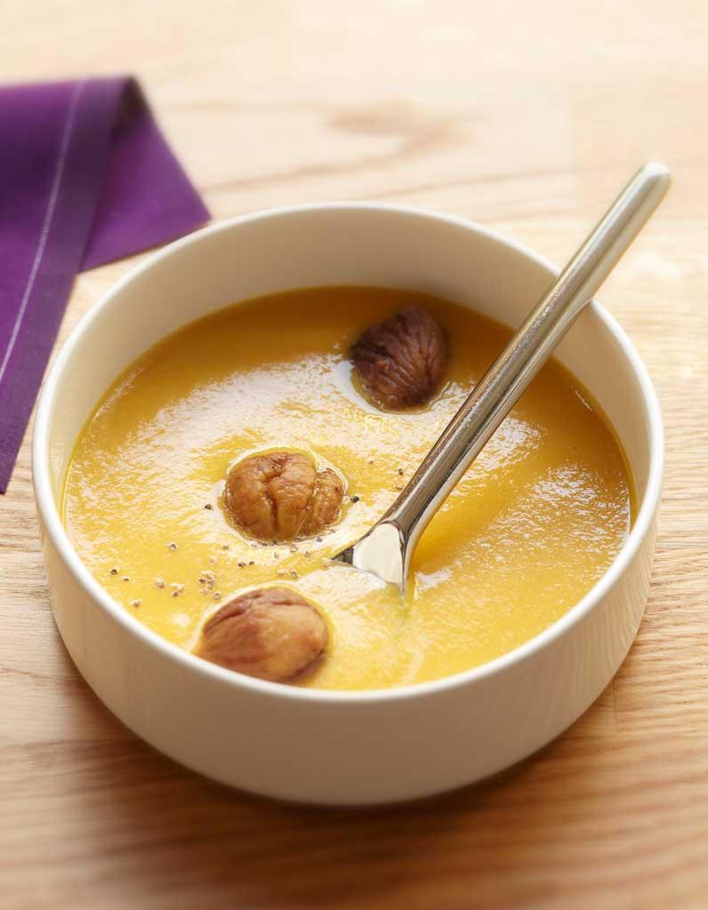 Velout de potiron aux ch taignes par ora to pour 6 for Table ora ito