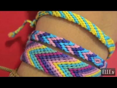 apprenez faire un bracelet br silien elle vid os. Black Bedroom Furniture Sets. Home Design Ideas