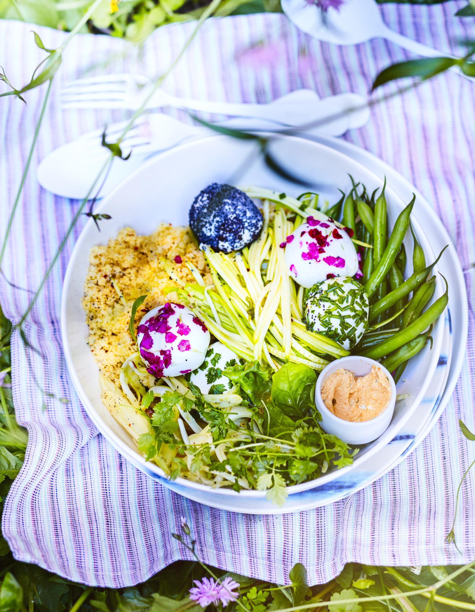 Salade veggie haricots verts et mozzarella pour 6 - Cuisine simple et saine ...
