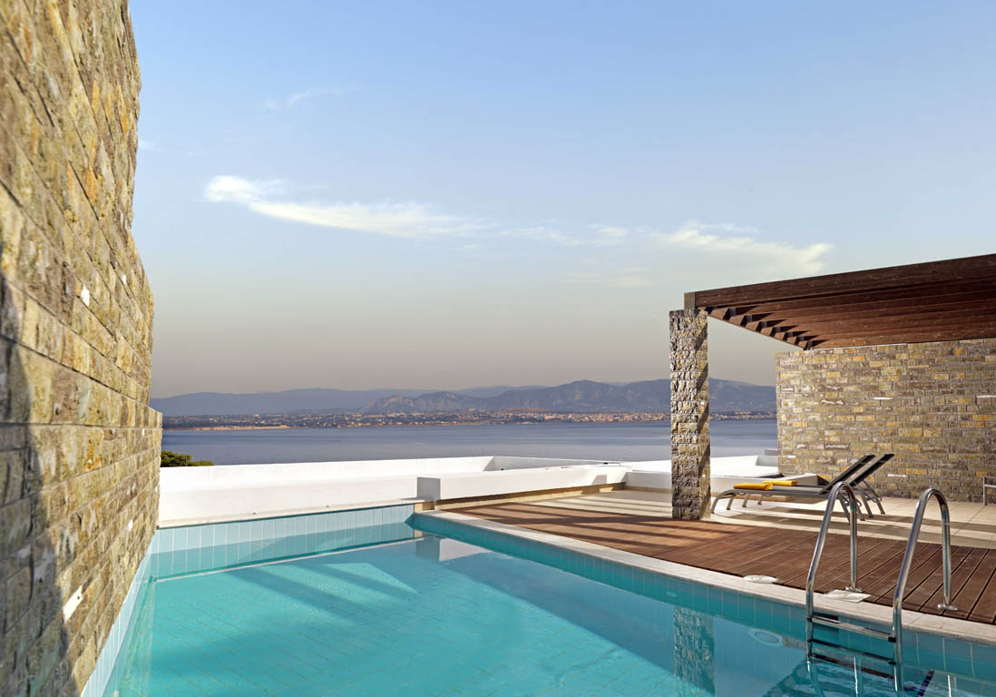 Poseidon resort loutraki gr ce piscine priv e les - Hotel chambre avec piscine privee ...