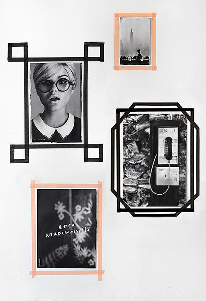 activit manuelle d 39 hiver cadres en masking tape 25 activit s manuelles faciles pour passer l. Black Bedroom Furniture Sets. Home Design Ideas