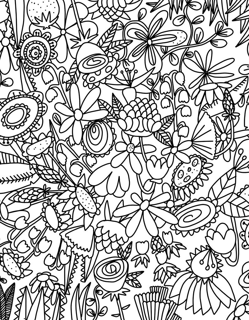 Coloriage fleur d couvrez notre joli coloriage de fleurs - Fleurs a colorier ...