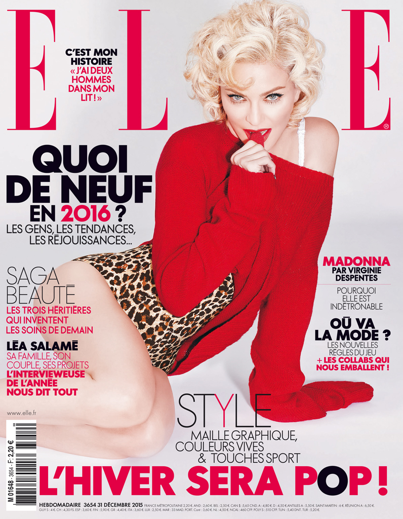 madonna en couverture de elle cette semaine elle. Black Bedroom Furniture Sets. Home Design Ideas