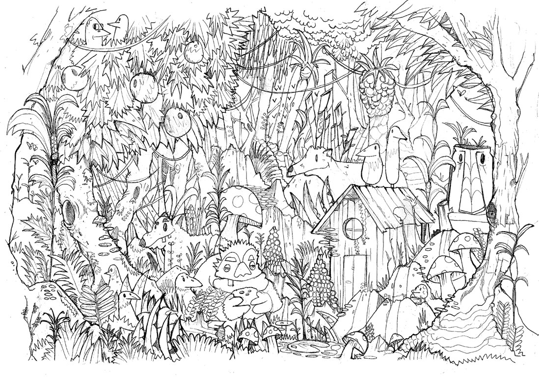 Moncoloriageelle la jungle elle - Dessin de jungle ...
