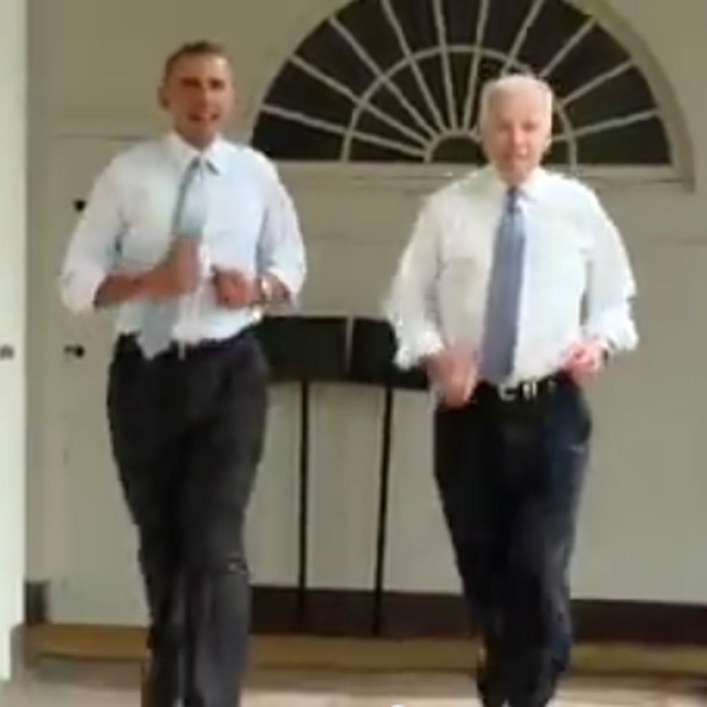 barack obama fait son jogging la maison blanche pour michelle elle. Black Bedroom Furniture Sets. Home Design Ideas