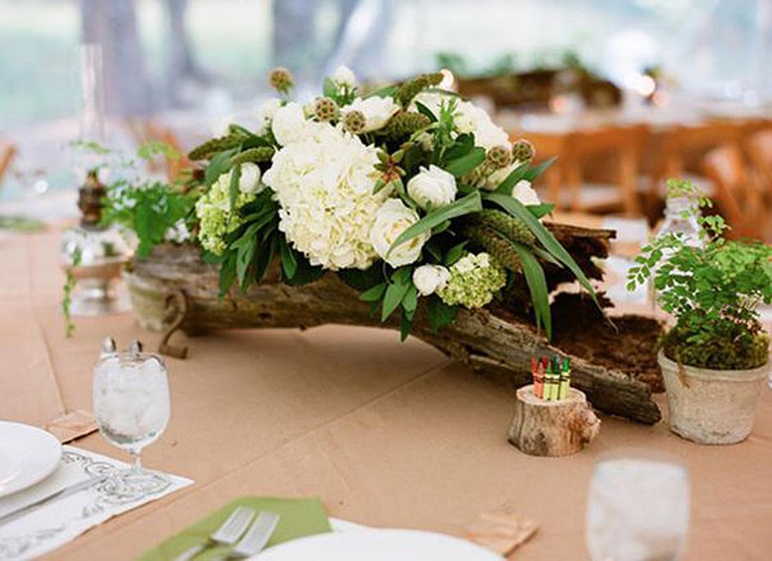 Composition florale avec du bois nos 20 id es de compositions florales co - Composition floral mariage ...