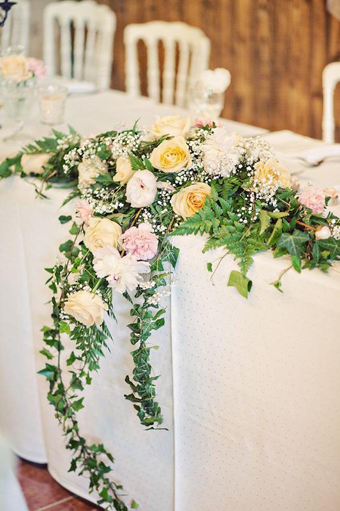 composition florale de table nos 20 id es de compositions florales copier elle. Black Bedroom Furniture Sets. Home Design Ideas