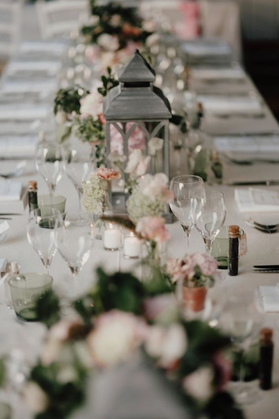 Decoration Table Mariage Rose Et Gris - Wedding Decor