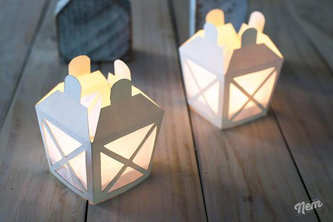 photophore en carton le photophore le secret d une d coration cosy elle. Black Bedroom Furniture Sets. Home Design Ideas