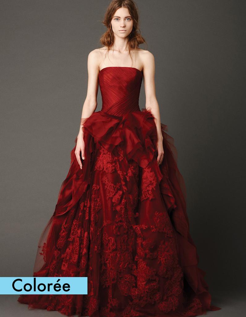Robe bustier rouge vera wang 50 robes de mari e qui for Meilleures robes de mariage vera wang