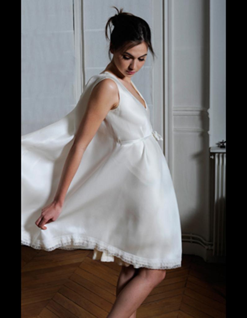 Robe courte en organza et crêpe de soie Odile Léonard - 50 robes de ...